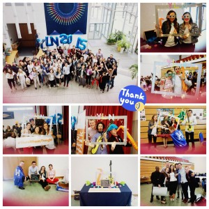 Collage of images showing young people taking part in Headstrong's 2015 Youth Learning Network event