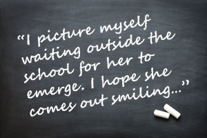 Parent's quote on chalkboard